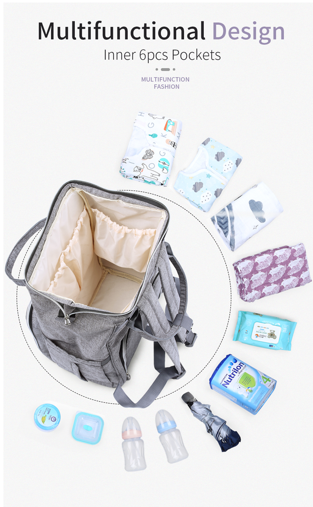HTB1A2A2cSSD3KVjSZFKq6z10VXag Insular Brand Nappy Backpack Bag Mummy Large Capacity Stroller Bag Mom Baby Multi-function Waterproof Outdoor Travel Diaper Bags