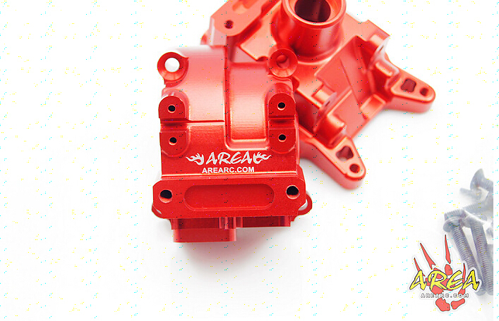 Area Rc Front Alloy gear box Diff for LT 5T red and silver can choose losi 5ive t billet diff housing diff case 1 pc red and silver can choose