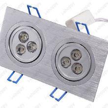 6 Вт 2X3 Вт 6 светодиодный потолочный светильник Скрытая решетка лампы отель, магазин
