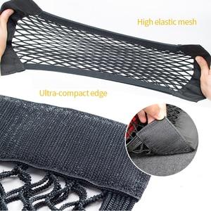 Image 4 - Car Trunk Storage Bag Nylon Mesh Nets Auto Back Rear Trunk Organizer Elastic String Luggage Net Holder Pocket Vehicle supplies