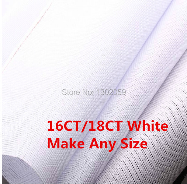 Best Choice 150X150cm 16CT Or 18CT Cross Stitch Embroidery Aida Cloth Fabric Canvas Or Make Any