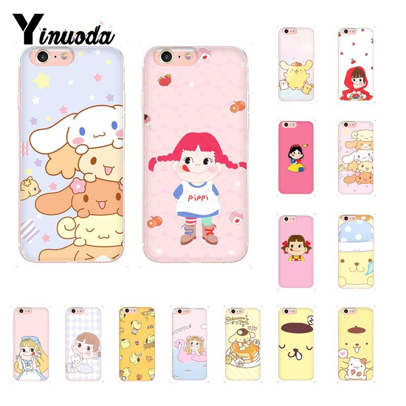 Yinuoda Sanrio pom purin lovely cartoon girl Colorful Cute Phone Case for iPhone 8 7 6 6S Plus X XS MAX 5 5S SE XR 10 Cover