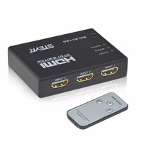Hot Sales STEYR 3 Port HDMI Switch 1 4v 3X1 Hdmi Switch With IR Remote Support