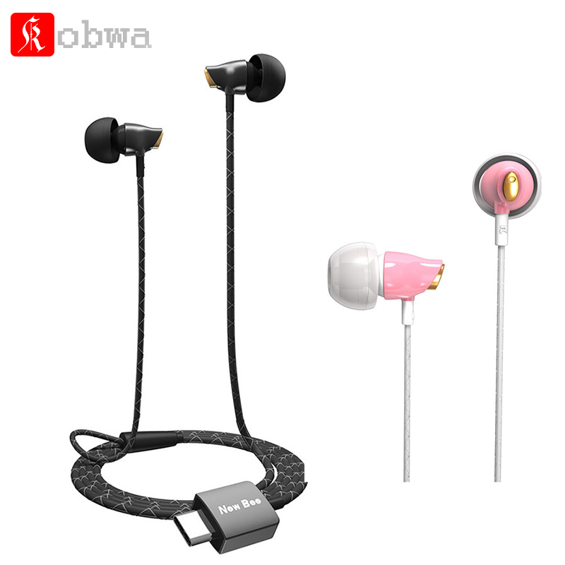 Kobwa Earphone Headset Type-c USB-c Ceramic Stereo Earbuds Clear Bass Earphone for Huawei Google Samsung Type-C Mobilephone usb type c metal hi fi stereo earphones wired control type c earbuds for huawei google moto z letv leeco le max 2 pro htc phone