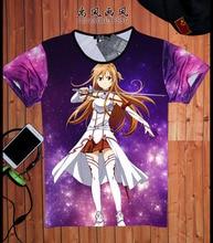 Anime Sword Art Online Couple men T shirts cartoon t shirts SAO fashion 2016 camisetas boy tops tee men's clothing