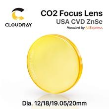 """EE.UU. CVD ZnSe Lente de Enfoque de Dia. 12   20mm FL 38.1 50.8 63.5 101.6mm 1.5 5 """"para el CO2 de Grabado Láser Máquina de Corte Envío Gratis"""