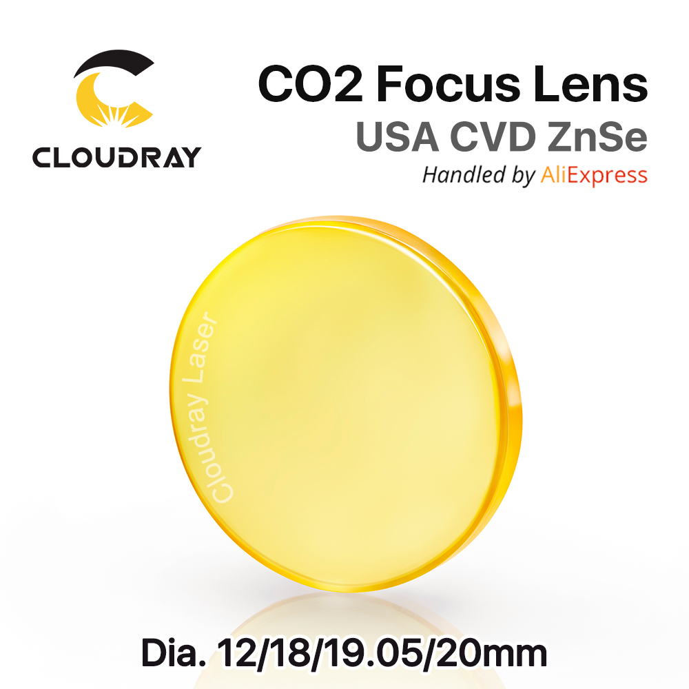 USA ZnSe CO2 Focus Lens Dia. 12 - 20mm FL 50.8 63.5 101.6mm 1.5 - 4 CVD for Laser Engraving Cutting Machine Free Shipping laser focus lens for laser welding machine spot welder co2 laser engraving cutting machine free shipping