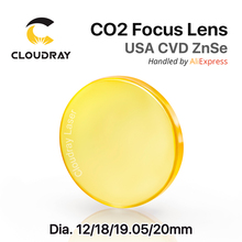 "US $14.5 |USA ZnSe CO2 Focus Lens Dia. 12   20mm FL 50.8 63.5 101.6mm 1.5   4"" CVD for Laser Engraving Cutting Machine Free Shipping-in Lenses from Tools on Aliexpress.com 