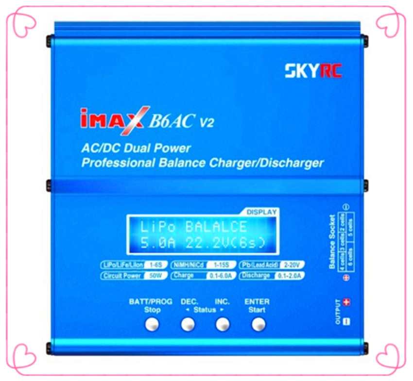Genuine SKYRC iMAX B6AC V2 Dual Power (6Amps, 50Watts) Balance Charger/Discharger for Lipo Battery For RC Helicopter Quadcopter цены