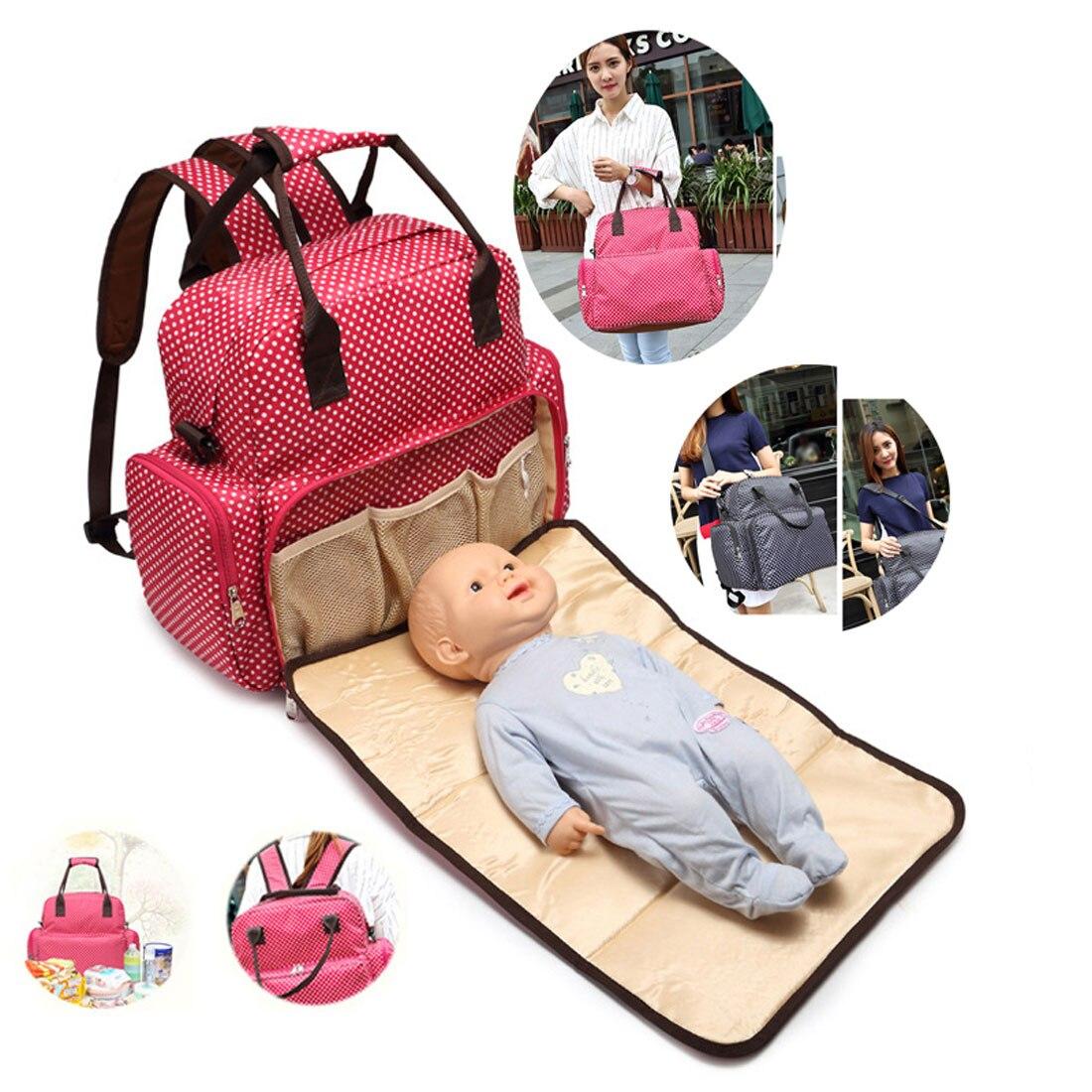 New Brand Baby Diaper Bag Multifunctional Baby Bed Waterproof Shoulder Bags Messenger Bag Diaper Bag Backpack Large Capacity