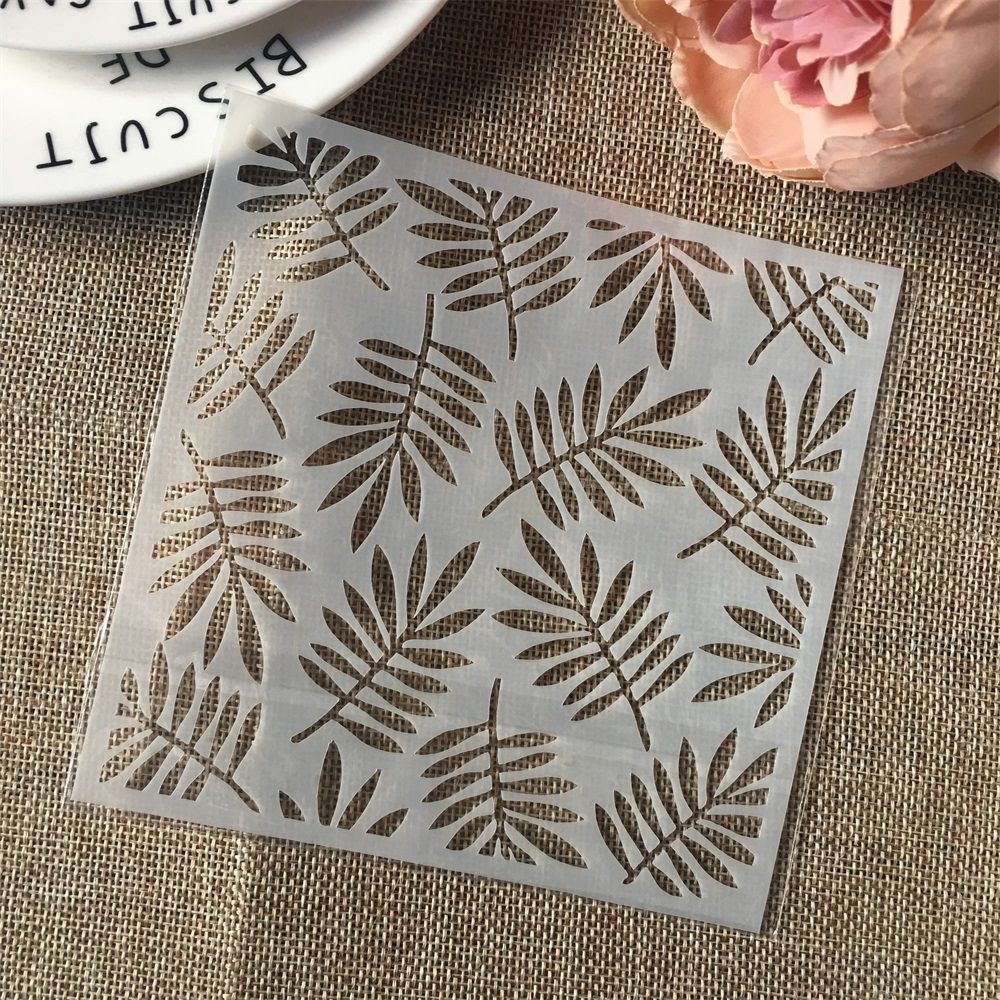 Hot 13cm Leaf DIY Craft Layering Stencils Wall Painting Scrapbooking Stamping Embossing Album Card Template