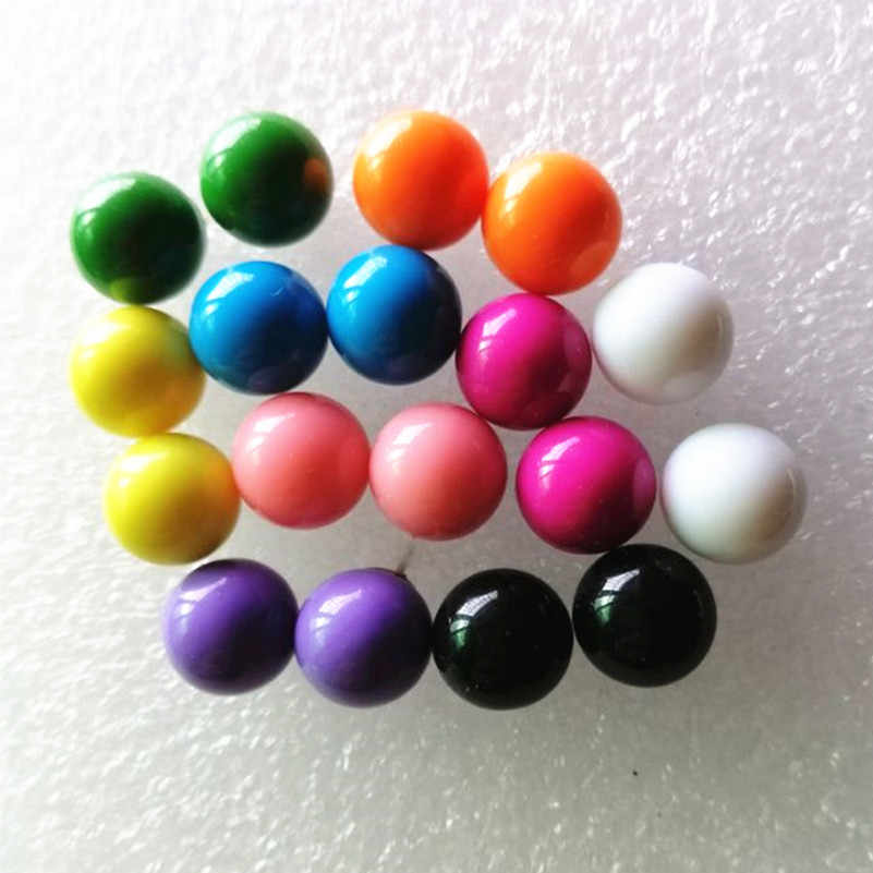 9 colors choose fashionable and lovely candy earrings, simple imitation pearl earrings and jewelry wholesale as gifts for women