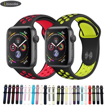 Silicone Strap for Apple Watch Band 42mm 38mm iwatch 321 Nike Sport bands Bracelet Watchband stainless steel Adapter correa цвета apple watch 4