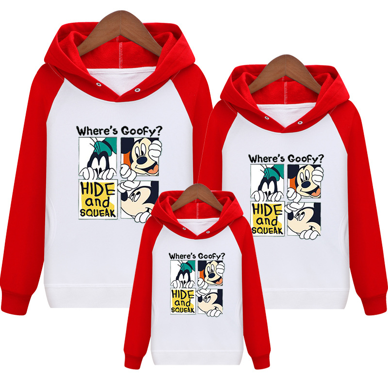 HTB1A2BIVIfpK1RjSZFOq6y6nFXaS - Family Matching Outfits Kids Long Sleeves Cartoon Mickey Hoodies Coats Father Mother Daughter Son Sweatshirts Dad Mom Hoodies