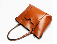 Fashion newest design genuine leather women's popular handbag vintage large capacity shoulder bag simple female bag h-89587g
