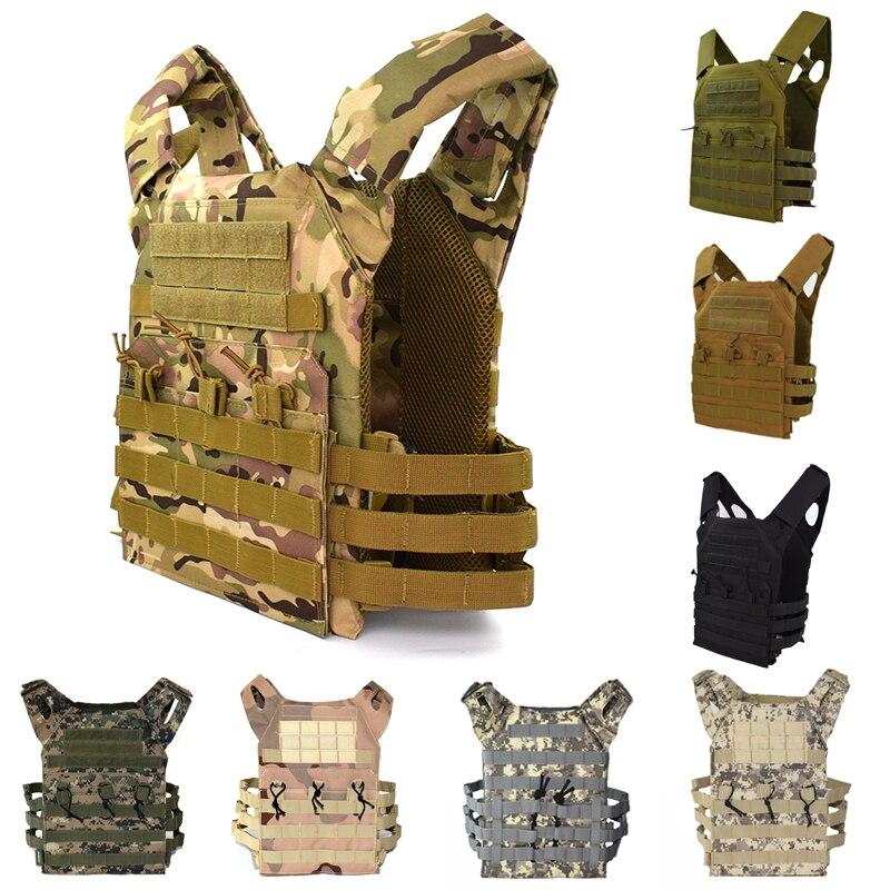 Tactical JPC Vest Molle Plate Carrier Vest Combat Airsoft Military Camo Vests