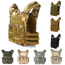 лучшая цена Tactical Military JPC Vest Hunting Airsoft Sport Molle Combat Plate Carrier Vest Camoufalge Men Army Body Armor