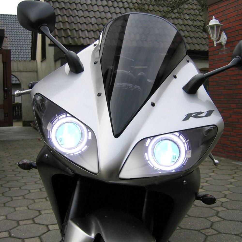 KT Headlight for Yamaha YZF R1 2002 2003 LED Angel Eye Red Demon Eye Motorcycle HID kt headlight for yamaha yzf r1 2002 2003 led angel eye red demon Basic Headlight Wiring Diagram at reclaimingppi.co