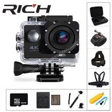 Богатый F5 Экшн-камера WiFi 1080P 170D Len 2,0 ЖК-дисплей шлем Cam подводный go pro Водонепроницаемый Спорт HD камер видеокамер DV