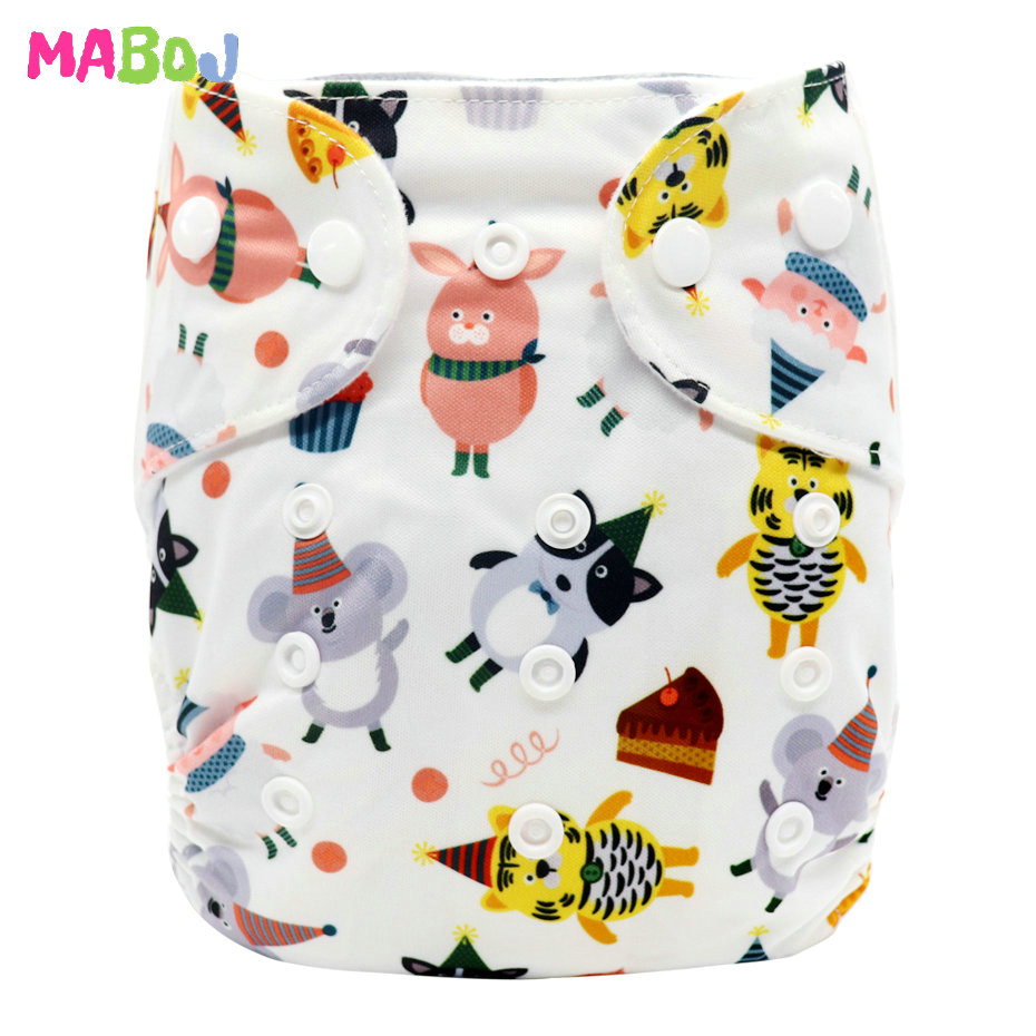 MABOJ Diaper Baby Pocket Diaper Washable Cloth Diapers Reusable Nappies Cover Newborn Waterproof Girl Boy Bebe Nappy Wholesale - Цвет: PD5-5-12