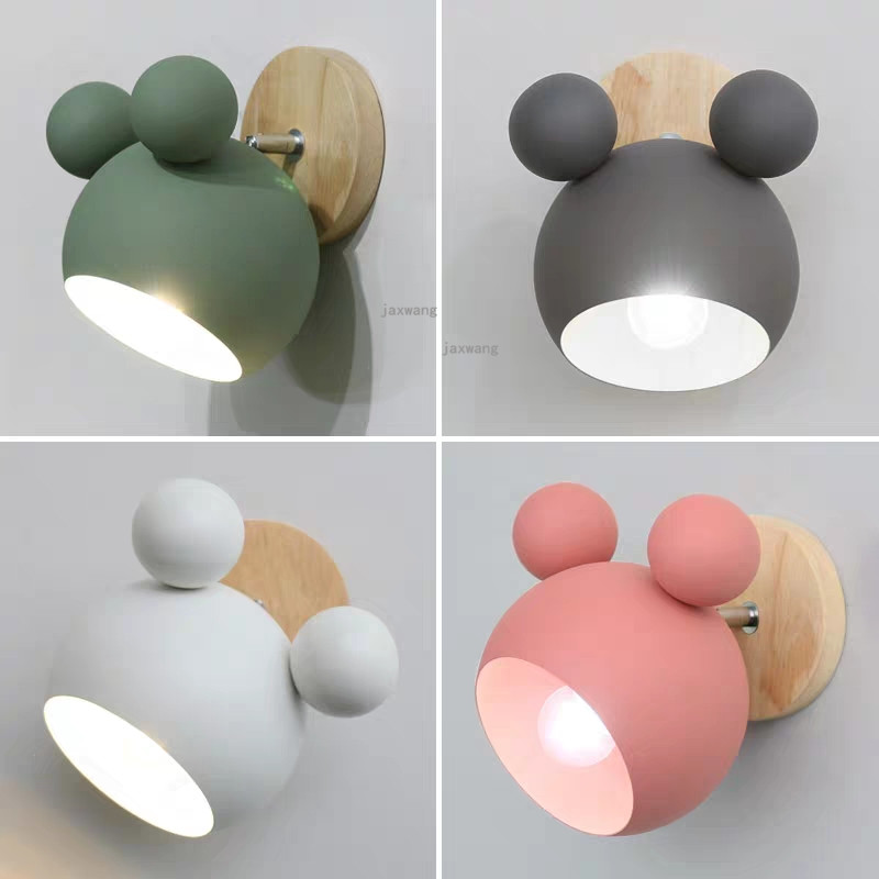 Mickey Wall Lamp Led Lights Sconce