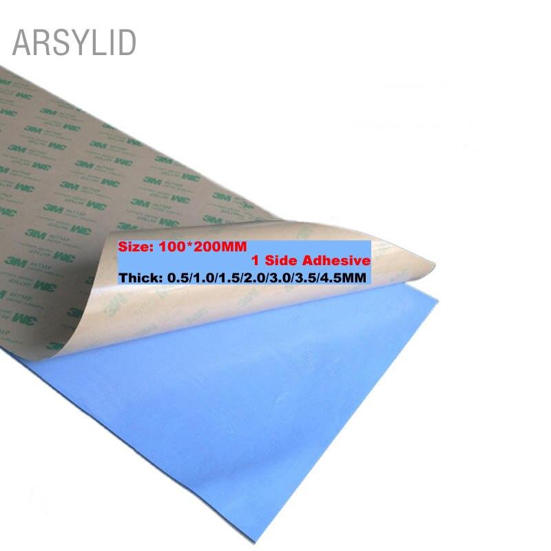 Высокоэффективная теплопроводность 3,6 Вт 100 мм* 200 мм двухсторонняя проводящая штукатурка для радиатора термопрокладка для теплоотвода радиатора - Цвет лезвия: 1 Side Adhesive