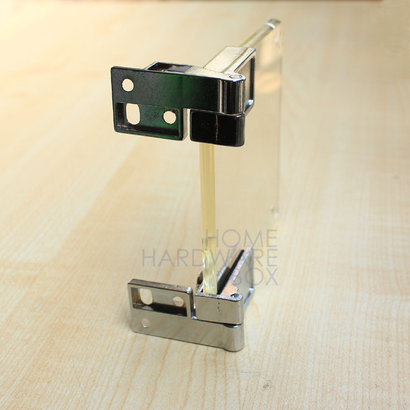 Glass Cupboard Cabinet Door Clamp Hinge Chrome Self Lock In Corner
