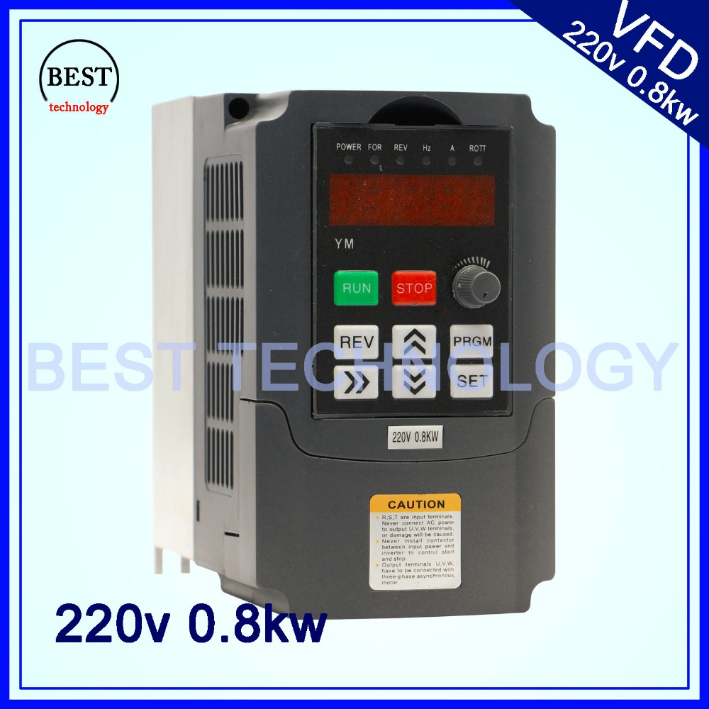 220V 0.8KW VFD CNC Spindle motor driver speed control  800W Variable Frequency Driver  Inverter 1HP or 3HP Input 3HP Output 220v 5 5kw vfd variable frequency drive vfd inverter 3hp input 3hp output cnc spindle motor driver spindle motor speed control