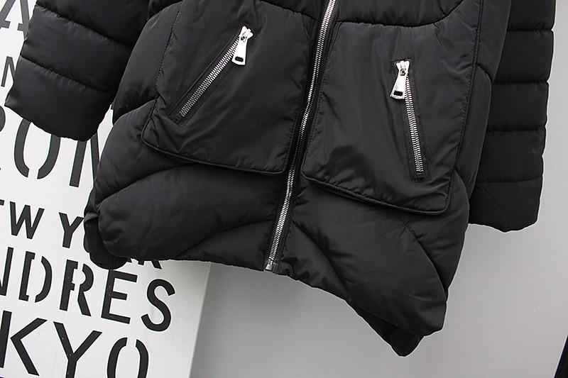 Noir Taille Chaud De Parkas Manteau Femmes À 2019 Capuchon Vestes Enceintes Black Casual Grande Vers Coton Bas Manteaux Le Épais X249 D'hiver W6xxEPn4