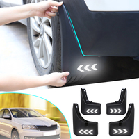 4Pcs Car Front Rear Mud Flaps Splash Guards Mudflap Auto Safety Reflective Warning Mudguards Fender Flares For Skoda Rapid 2018