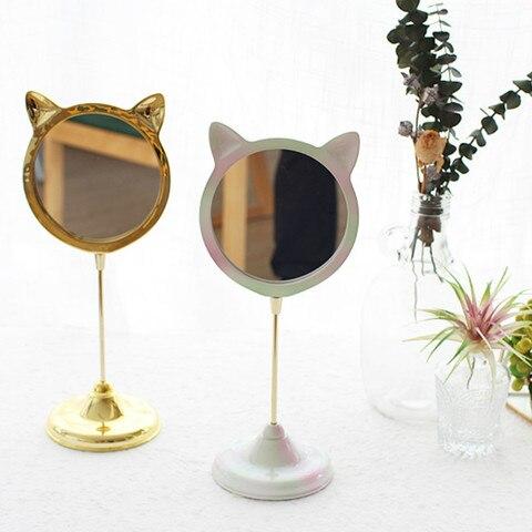 Originalidade Ador vel Kitty Bancada Espelho de Vaidade Espelho de Maquiagem Princesa C moda Menina