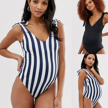 New swimsuit for conjoined pregnant women Stitching the back of to increase weight and