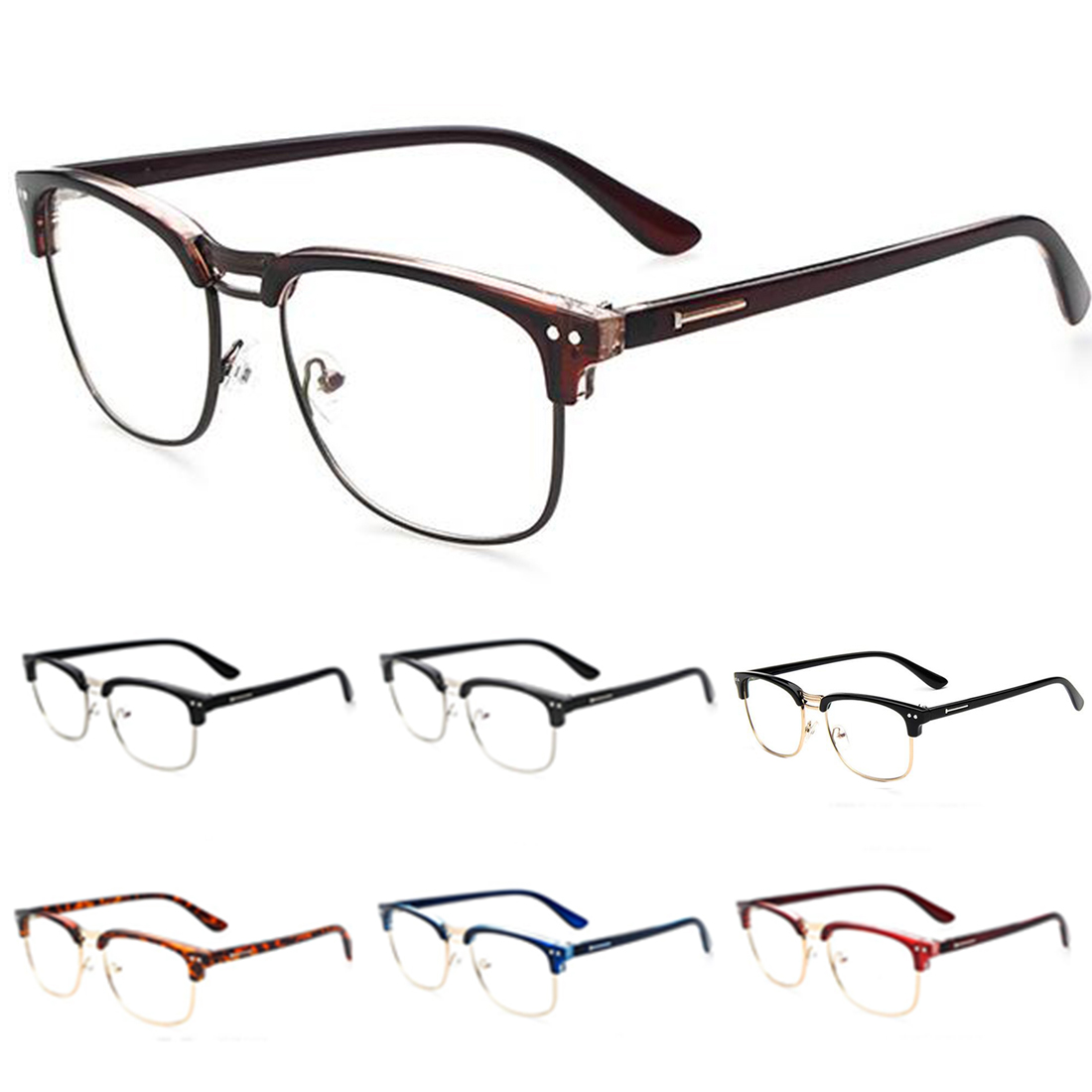 Half Frame Glasses Lenskart : 2016 Fashion Metal Half Frame Glasses Frame Retro Women ...