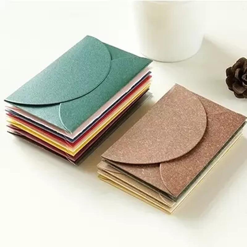 10PCS/Lot Mini Vintage Colorful Pearl Paper Envelope Gift Envelopes Letter Paper Envelops Greeting Card
