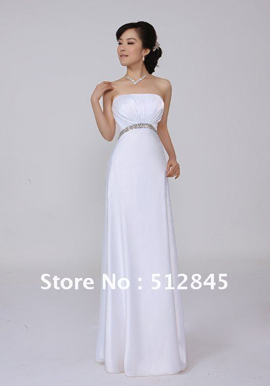 Wedding Long Straight Cut Dresses