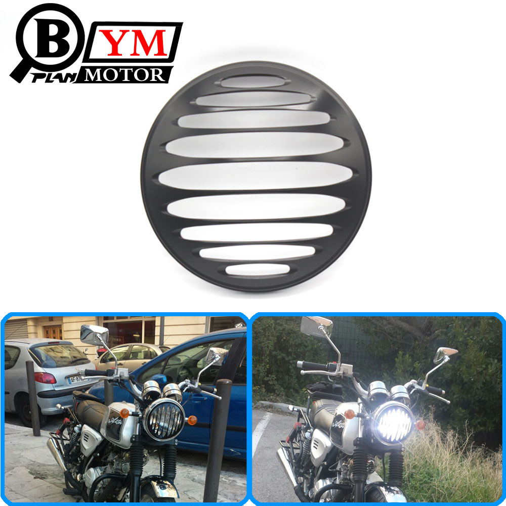 7 Motorcycle Black CNC Aluminum Metal Round Headlight Grill Cover For Harley Sportster XL 883 1200 black headlight grill cover for harley sportster xl883 1200 04 up softail cover headlight covers 5 3 4