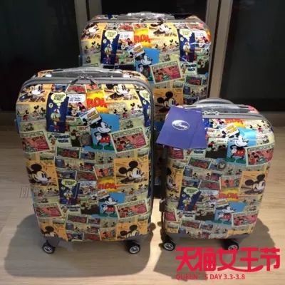 Travel tale PC 20 24 28 inchesA cartoon mouse Rolling Luggage Spinner brand High quality Travel