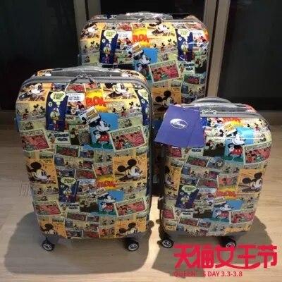 Conte de voyage PC 20/24/28 inchesA dessin animé souris roulant bagages Spinner marque haute qualité valise de voyage-in Bagages à roulettes from Baggages et sacs    1