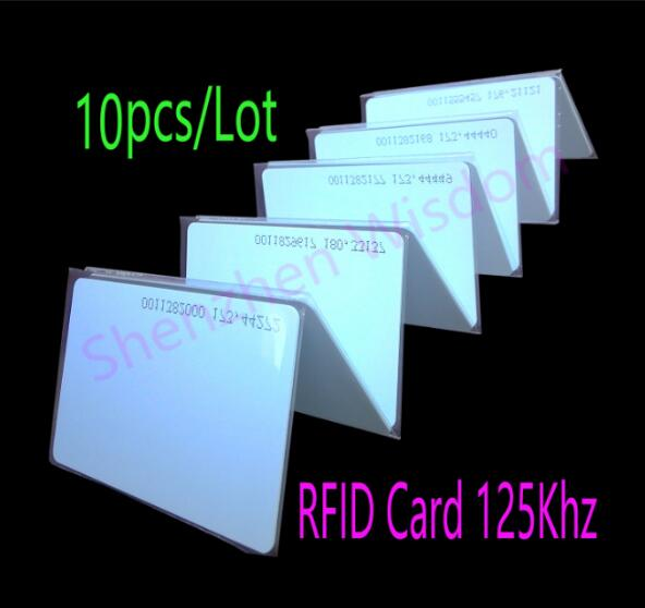 10pcs/Lot TK4100 RFID Card Proximity Smart Card RFID 125KHz Cards  PVC Card For Access Control Time Attendance rfid contactless card proximity id card rfid iso pvc card time attendance for access control 125khz with tk4100 em4100 chip