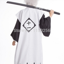 Bleach Cosplay Costume Kyouraku Shunsui White Cloak Coat