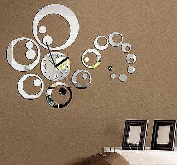 23pieces/set 3 kleuren diy home decoration mode spiegel oppervlak ...
