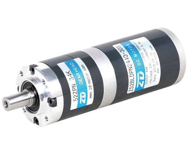 52 Series 40w 24V Brushless DC Motor Z52DP2440-30S / 52PM 28.73K Planetary Transmission 52mm diameter flange size new lp2k series contactor lp2k06015 lp2k06015md lp2 k06015md 220v dc