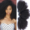 "Mongolian Kinky Curly Hair Extensions 100% Human Virgin Hair Weave Tight Curly 100G/Pc Afro Kinky Curly Virgin Hair 10""-26"""