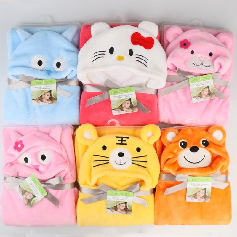 Baby Flanel Bath Towel Various Design Cartoon Cute Animal Panda KT Tiger Hooded Towel super Jubah Lembut Baru Tiba Untuk Bayi yang baru lahir