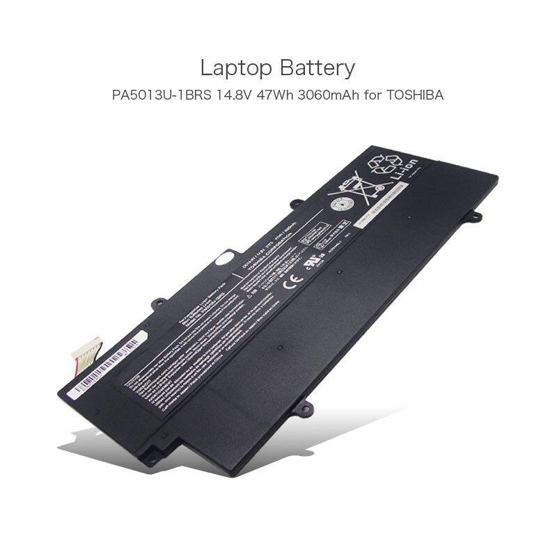 100% D'origine 14.8 V 47Wh 3060 mAh 8 Cellules PA5013U PA5013U-1BRS Batterie D'ordinateur Portable pour Toshiba Portege Z830 Z835 Z930 Z935 série PC