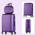 Korea fashion 14 26inches abs+pc travel luggage bags sets on 8-universal wheels,girl candy color trolley luggage,pink green bags