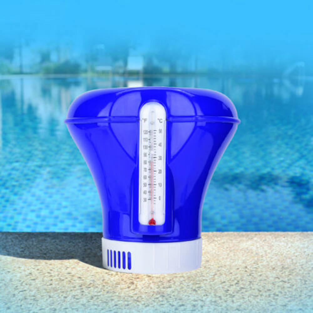Swimming Pool Floating Doser Applicat With Thermometer Auto-Supplier Floating Chlorine Dispenser Cleaning Sterilization