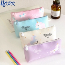 Unicorn Pencil Case Kawaii School Supplies Bag Pegasus Stationery Gift Cute Pink Blue Box