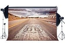 Rota 66 Backdrop Backdrops Rústico Americano Cowboy Oeste Rodovia Nuvem Branca Natureza Paisagem de Fundo