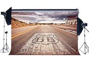 Image 1 - Route 66 Achtergrond Amerikaanse West Cowboy Achtergronden Rustieke Snelweg Wit Cloud Natuur Landschap Achtergrond
